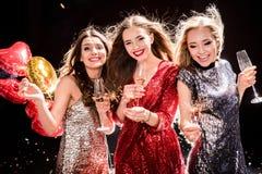 3 женщины на партии Стоковое Изображение RF