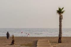 Женщины на пляже в Мурсии Стоковое Фото