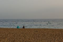 Женщины на пляже в Мурсии Стоковые Фото