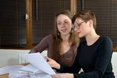 Женщины на работе Стоковые Фото