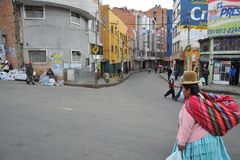 Женщины на улице Ла Paz Стоковое фото RF