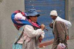 Женщины на улице Ла Paz Стоковые Фотографии RF
