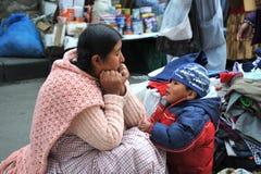 Женщины на улице Ла Paz Стоковые Изображения