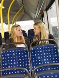 Женщины на шине Стоковые Изображения RF