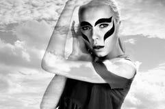 женщины неба стороны Стоковое фото RF