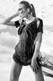 женщины неба стоковые изображения rf