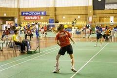 женщины неработающих людей s badminton Стоковые Изображения RF