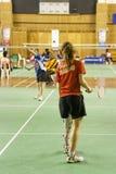 женщины неработающих людей s badminton Стоковая Фотография RF