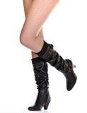 женщины ног ботинка сексуальные Стоковая Фотография