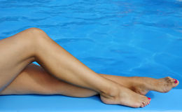 женщины ног нагие сексуальные Стоковое фото RF