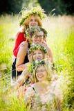 4 женщины нося венки Стоковое Изображение