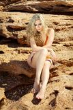женщины обнажённого пляжа красивейшие Стоковые Изображения RF