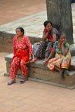 Женщины от Непала в традиционных одеждах Стоковые Фотографии RF