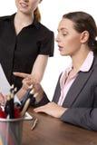 Женщины офиса смотря документы Стоковая Фотография RF