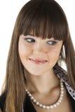 Женщины очарования над белизной Стоковые Фотографии RF