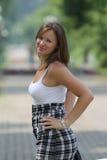 женщины парка милые Стоковое Изображение RF