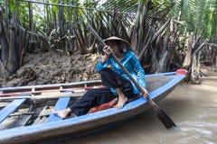 Женщины перепада Меконга Стоковые Изображения RF