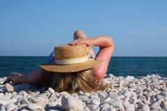 женщины пляжа Стоковая Фотография RF