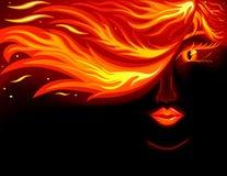 женщины пожара иллюстрация вектора