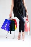 женщины покупкы молодые Стоковое фото RF