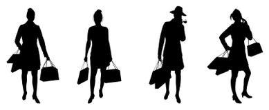 женщины покупкы иллюстрация вектора