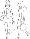 Женщины покупок Стоковые Изображения RF