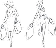 Женщины покупок Стоковые Фотографии RF