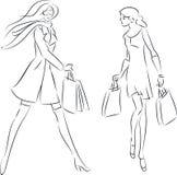 Женщины покупок Стоковая Фотография