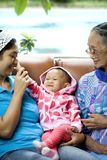 женщины портрета 3 поколения счастливые совместно Стоковое Изображение