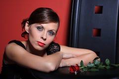 женщины предпосылки красные сексуальные стоковые фото
