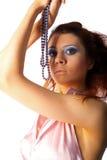 женщины предпосылки beautyful белые Стоковое Фото