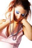 женщины предпосылки beautyful белые Стоковое Изображение RF