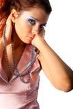 женщины предпосылки beautyful белые Стоковые Изображения RF