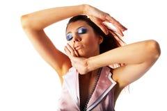 женщины предпосылки beautyful белые Стоковая Фотография RF