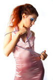 женщины предпосылки beautyful белые Стоковые Фотографии RF