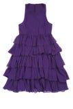 женщины пурпура платья стоковое фото rf