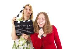 2 женщины работая в индустрии развлечений Стоковая Фотография RF