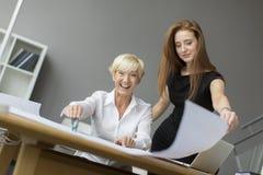 Женщины работая в офисе Стоковые Фотографии RF