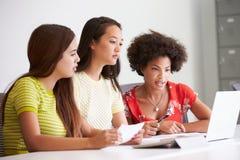 3 женщины работая совместно в студии дизайна Стоковое Фото