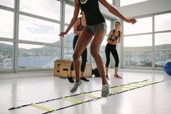 Женщины разрабатывая в спортзале стоковое изображение rf