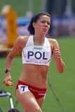 женщины реле Польши метров 4x400 Стоковое Изображение RF