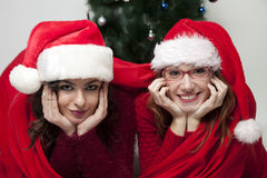 Женщины рождества счастливые 2 Стоковые Изображения RF