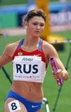 женщины России реле метров 4x400 Стоковая Фотография RF