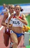 женщины России реле Польши метров 4x400 Стоковые Изображения RF