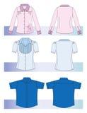 женщины рубашек людей Стоковое Изображение