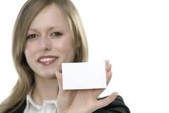 женщины руки визитной карточки Стоковые Фотографии RF