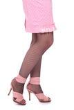 женщины сандалий ног розовые Стоковое фото RF