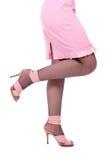 женщины сандалий ног розовые Стоковое Изображение RF