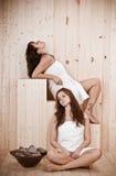 женщины сбора винограда sauna портрета Стоковая Фотография RF
