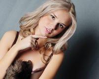 женщины сексуальности портрета молодые Стоковое Изображение RF